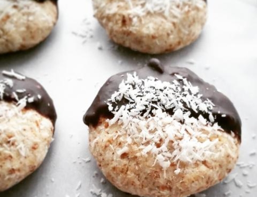 Chocolate-Dipped Coconut Almond Cookies