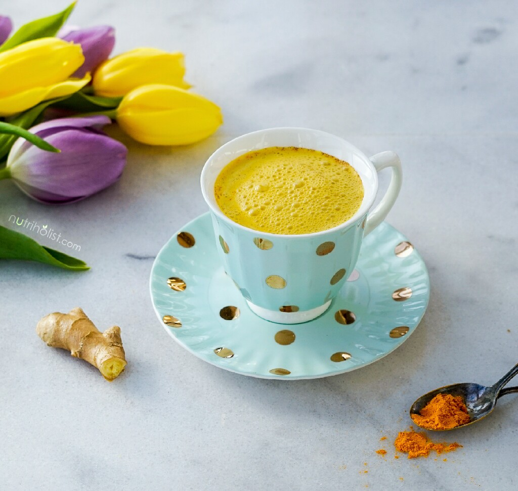 Golden Spiced Milk & Tips for Better Sleep- Nutriholist