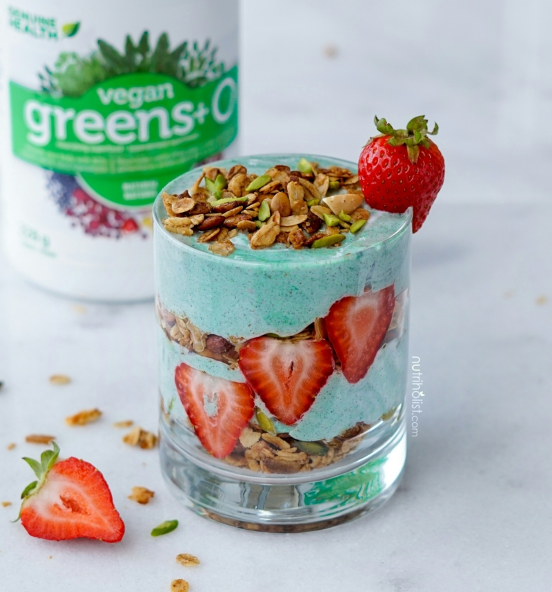 Superfood Coconut Yogurt Granola Parfait - Nutriholist